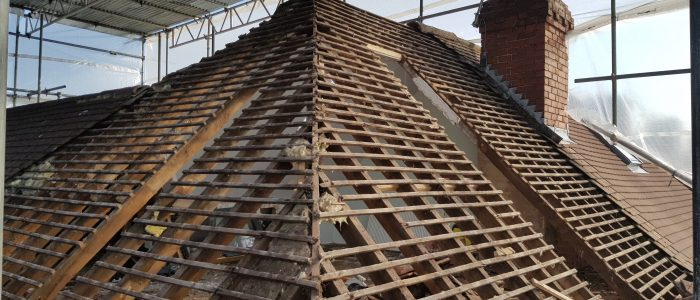 Hip to Gable loft conversion - stripping