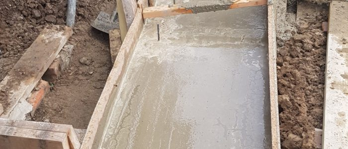 Concrete Foundation for rear extension in Greenford